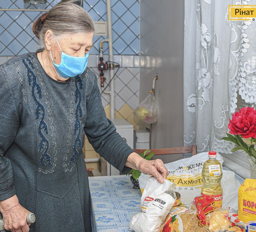 food aid to elderly people